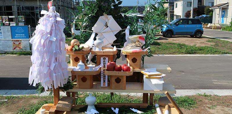 地鎮祭の祭壇